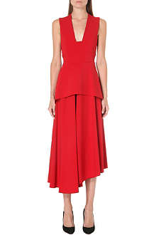 MAX MARA Sleeveless stretch-crepe dress
