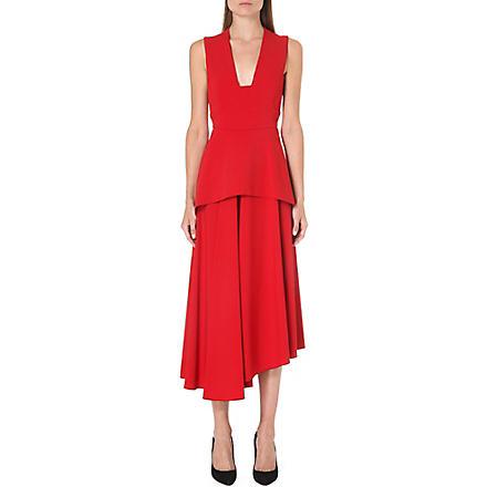 MAX MARA Sleeveless stretch-crepe dress (Red