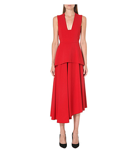 MAX MARA Sleeveless stretch-crepe dress (Red