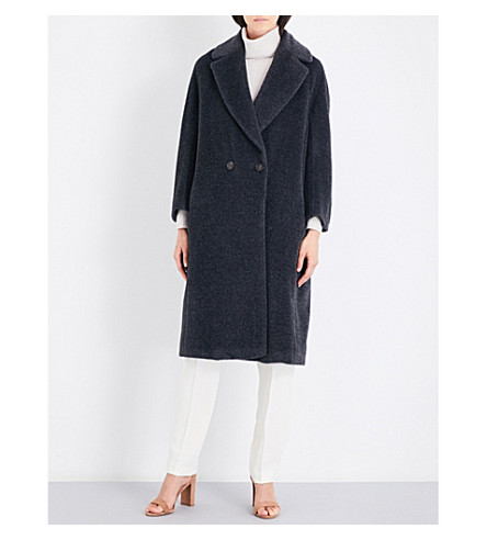 S MAX MARA Mister double-breasted alpaca and wool-blend coat (Grey