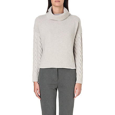 MAX MARA Mogan turtleneck wool and cashmere-blend jumper (Ice