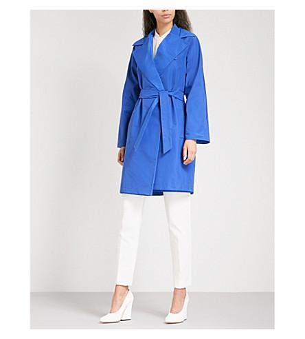 MAX MARA Moldava shell wrap coat (Cornflower+blue