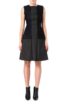 SPORTMAX Molina neoprene and bouclé dress
