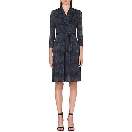 MAX MARA Monile wrap-front dress (Blue