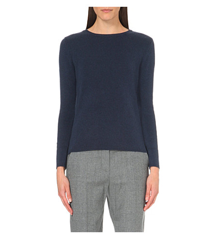 S MAX MARA Mosella wool and cashmere-blend jumper (Dark+grey