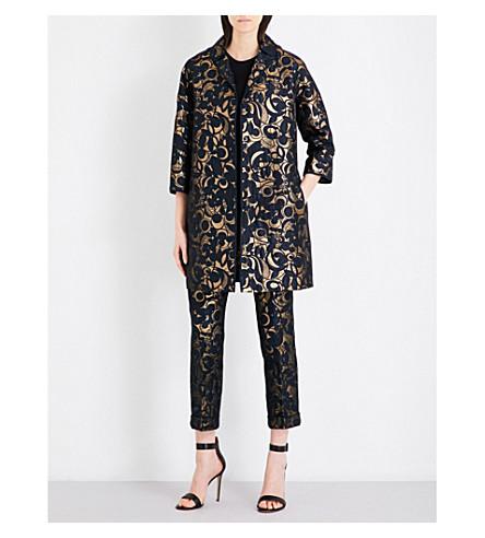 S MAX MARA Moxa floral-jacquard coat (Gold