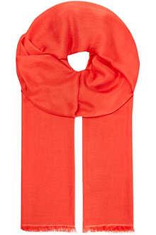 MAX MARA STUDIO Fringed silk scarf