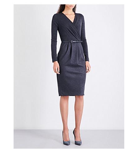 MAX MARA Narsete stretch-wool dress (Dark+grey