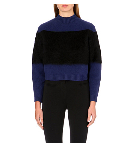 MAX MARA Navile cropped jumper (Midnight