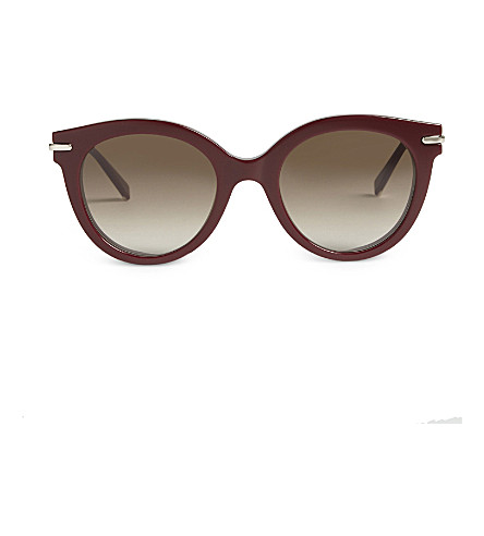 MAX MARA Needle round-frame sunglasses (Bordeaux