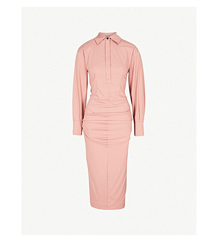 SPORTMAX Nella fitted cotton-blend dress (Pink