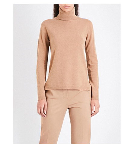 MAX MARA Nigeria turtleneck wool and cashmere-blend jumper (Camel