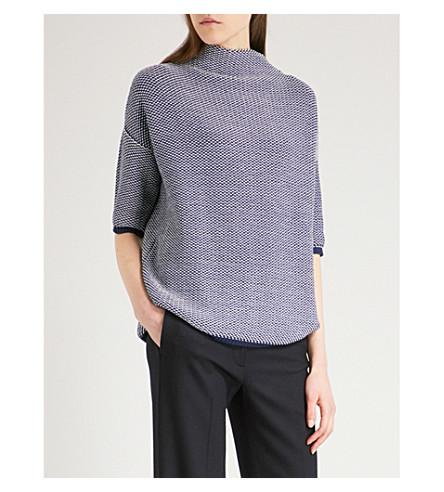 MAX MARA Nodo cotton-blend jumper (Blue