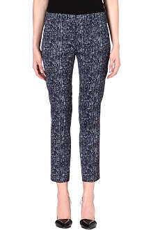 SPORTMAX Noemi tweed-print satin trousers