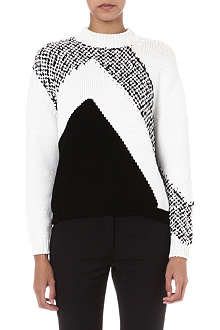 SPORTMAX Nola graphic knitted jumper