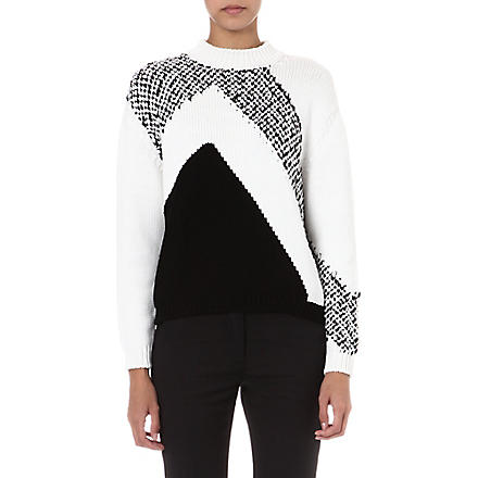 SPORTMAX Nola graphic knitted jumper (Ivory