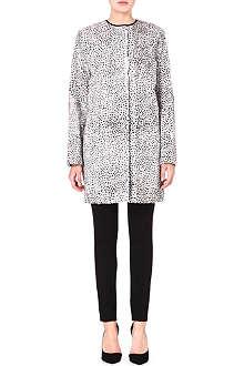 MAX MARA STUDIO Faux fur leopard print coat