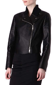 SPORTMAX Nome leather bomber jacket