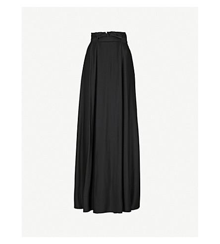 MAX MARA ELEGANTE Nord satin maxi skirt (Black
