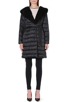 MAX MARA CUBE Reversible astrakhan and quilted coat