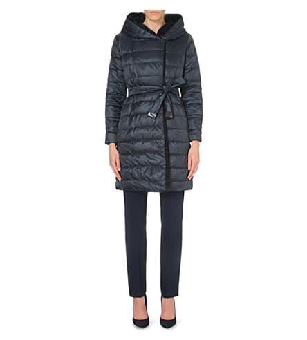 MAX MARA CUBE Noveast reversible quilted coat (Midnight blue