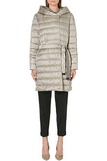 MAX MARA CUBE Houndstooth-reverse quilted coat