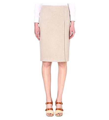 MAX MARA Nuccia wool pencil skirt (Beige