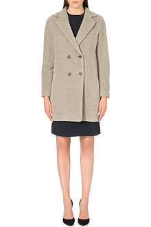 S MAX MARA Long-sleeve alpaca-blend coat