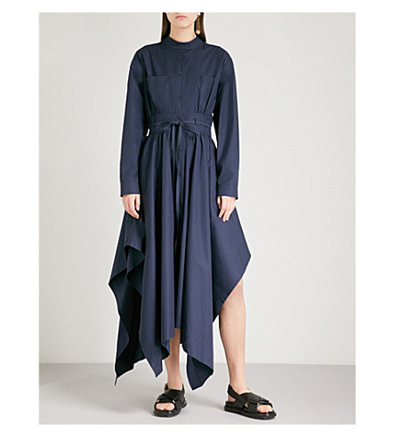 SPORTMAX Oblato cotton dress (Navy