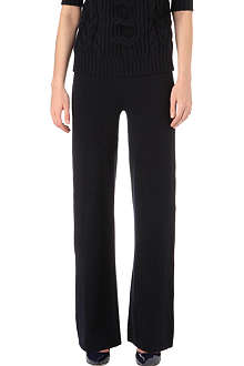 MAX MARA Wide-leg wool-blend trousers