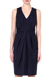 MAX MARA Ruched poplin dress