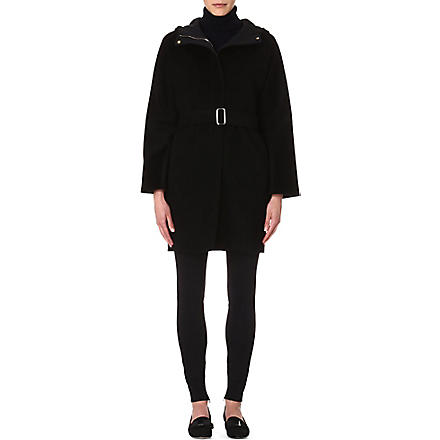 MAX MARA Camel-hair hooded coat (Black