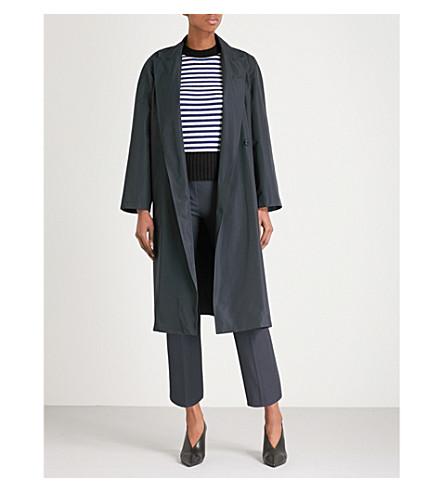 MAX MARA Ombra self-tie shell rain coat (Navy