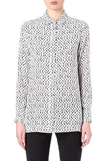 SPORTMAX Number-print silk shirt