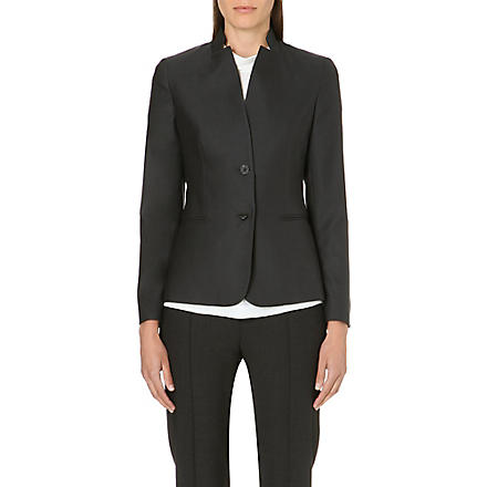 MAX MARA Onesti single-breasted jacket (Mid+grey