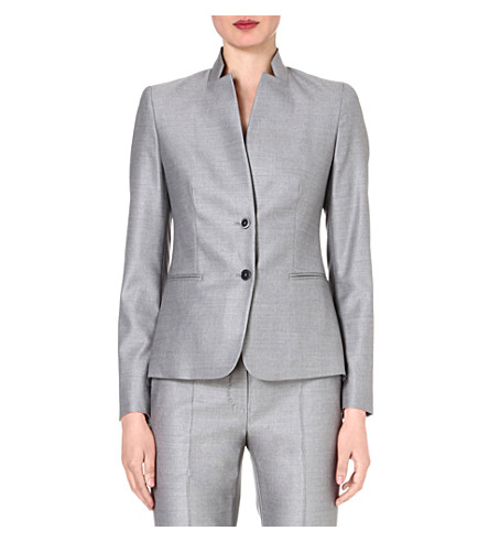 MAX MARA Onesti single-breasted jacket (Silver