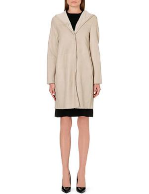 S MAX MARA Opzione hooded shearling coat