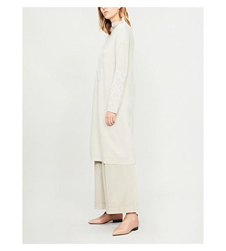 S MAX MARA Orietta wool and cashmere-blend dress (Ice