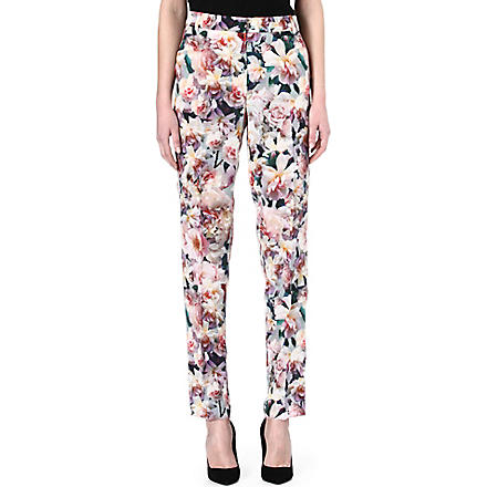 SPORTMAX Silk tailored floral trousers (Floral