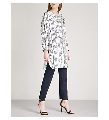 MAX MARA Orosei silk-twill tunic top (White