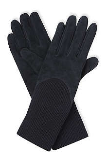 SPORTMAX Long-length suede gloves