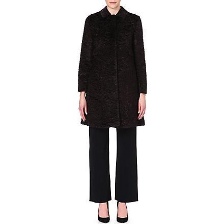 S MAX MARA Ortles faux-fur coat (Brown