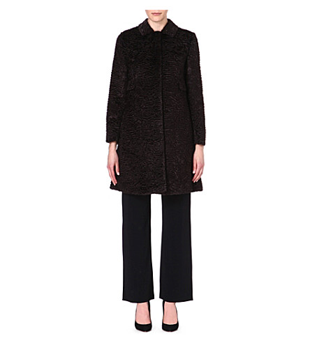 S MAX MARA Ortles faux-fur coat (Brown