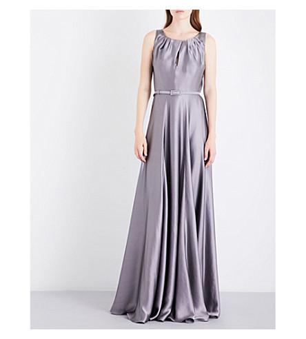 MAX MARA ELEGANTE Osol hammered-silk gown (Silver
