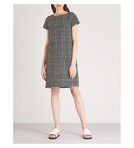 S MAX MARA Ottavia checked jacquard dress (Black
