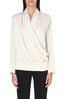 MAX MARA Ovale wrap-front silk blouse