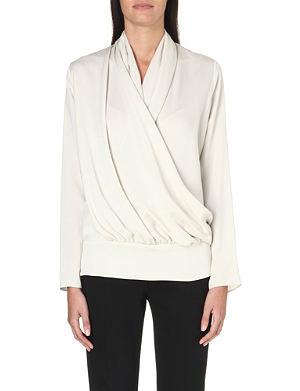 MAX MARA Ovale wrap-front silk blouse