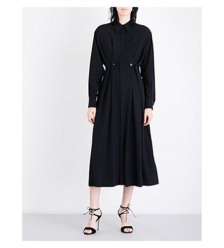 SPORTMAX Oxalis oversized silk-crepe shirt dress (Black