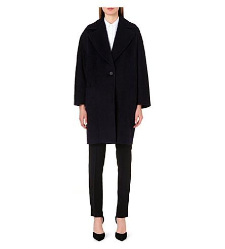 MAX MARA Ozio wool and alpaca-blend coat (Navy