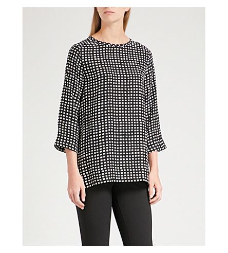 S MAX MARA Ozio silk shirt (Black